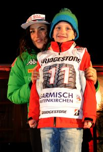 Ski World Cup 2016-2017. Garmisch 20 January 2017  Bib draw ceremony Federica Brignone. Photo Pier Marco Tacca Pentaphoto/Mateimage