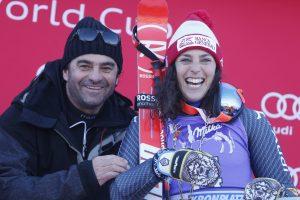 Ski World Cup 2016-2017.Federica Brignone  (ITA) Alberto Tomba  Kronplatz (ITA) 24 January 2017 Photo (Marco Trovati Pentaphoto/Mateimage)